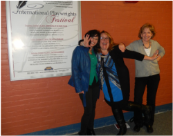 Warner Theatre International Playwrights Festival (LR) Shari Frost, Charlene Donaghy, SCB